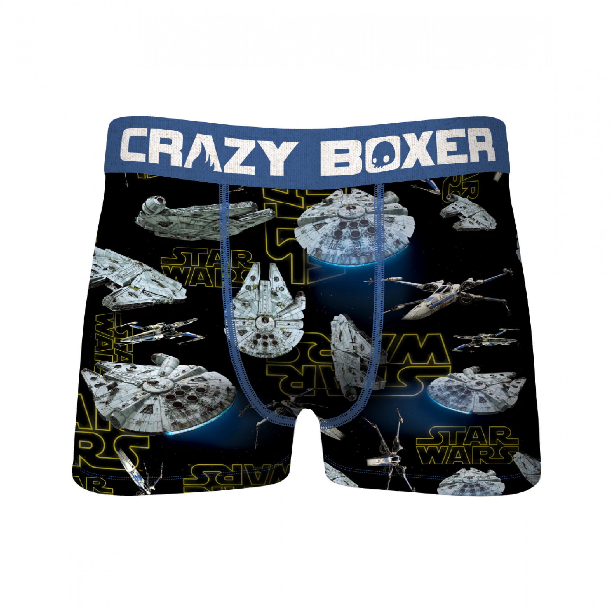 Star Wars Darth Vader and Millennium Falcon 2-Pack of Men's Crazy Boxer Briefs