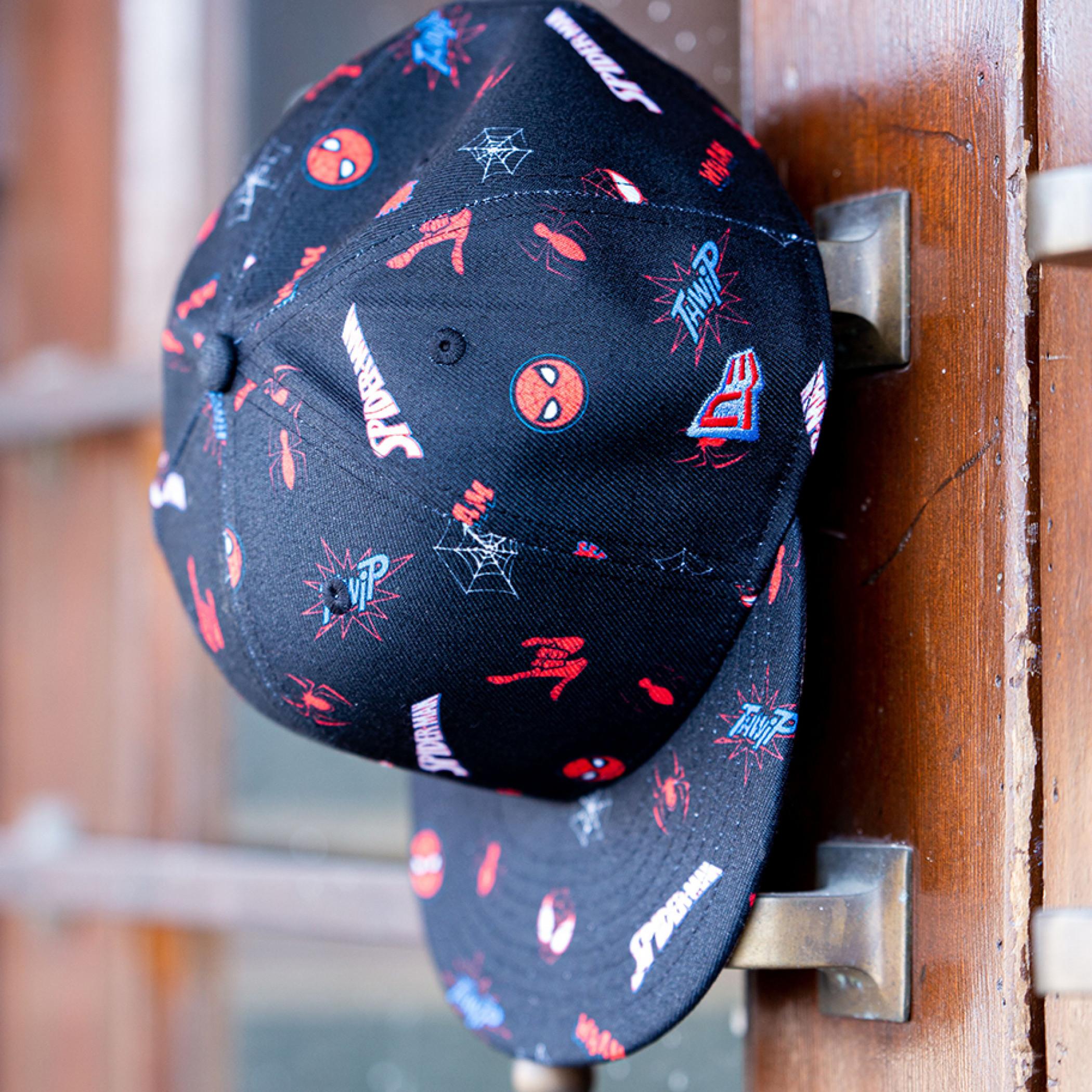 Spider-Man Parker & Miles Scattered New Era 9Fifty Adjustable Hat