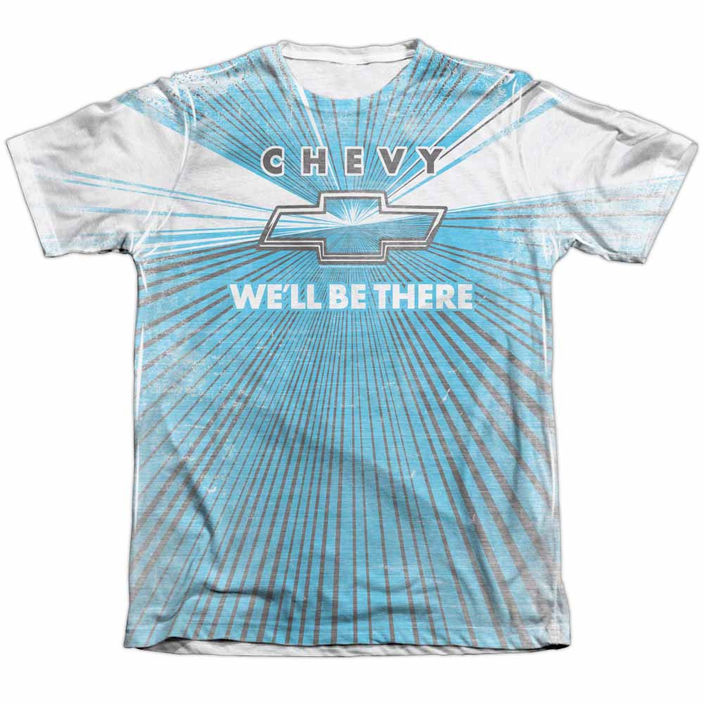 Chevy We'll Be There White Sublimation T-Shirt