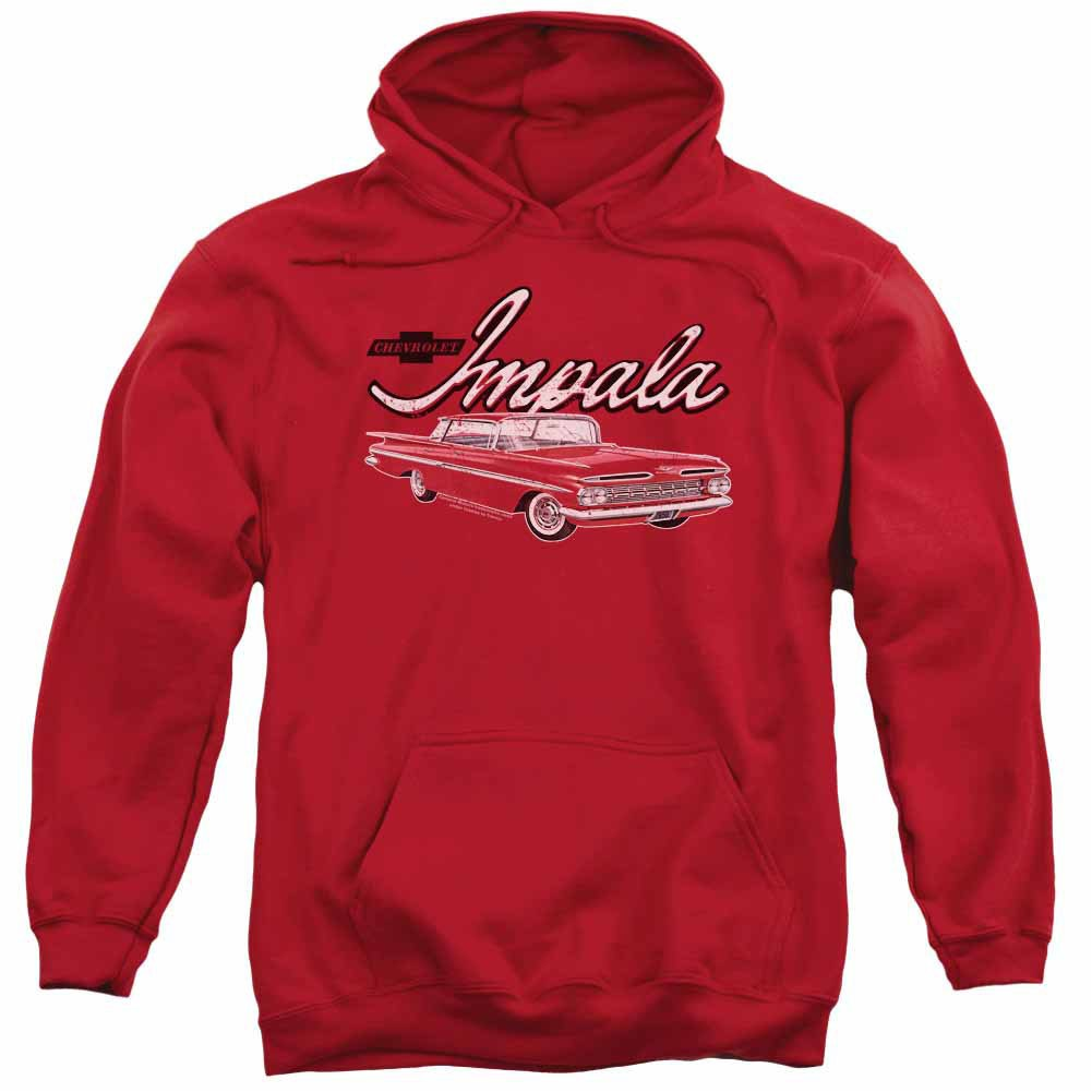 Chevy Classic Impala Red Pullover Hoodie