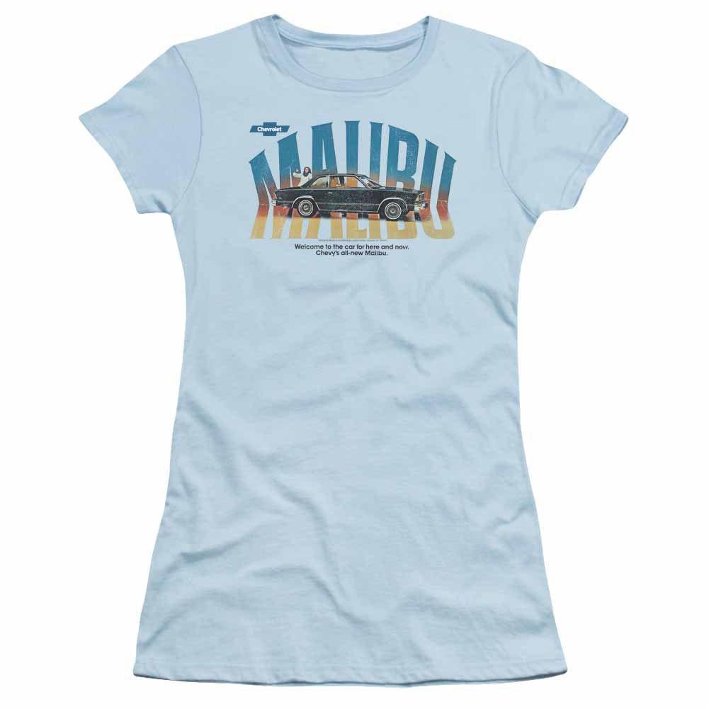 Chevy Thumbs Up Blue Juniors T-Shirt