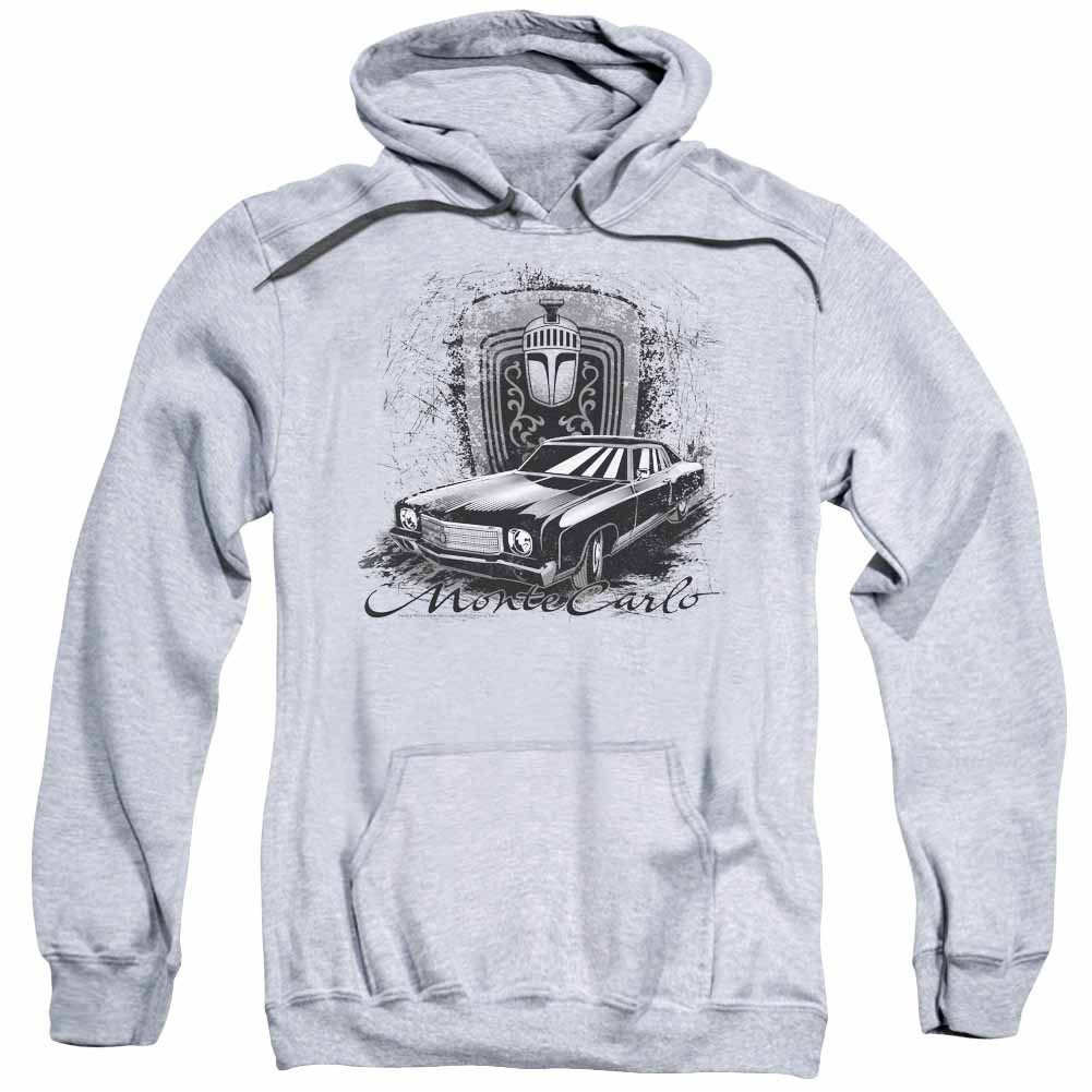 Chevy Monte Carlo Drawing Gray Pullover Hoodie