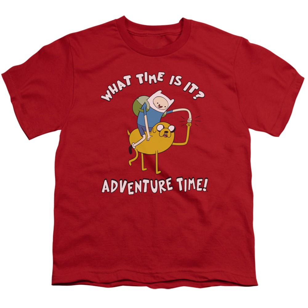 Adventure Time What Time Is It Red Youth Tshirt
