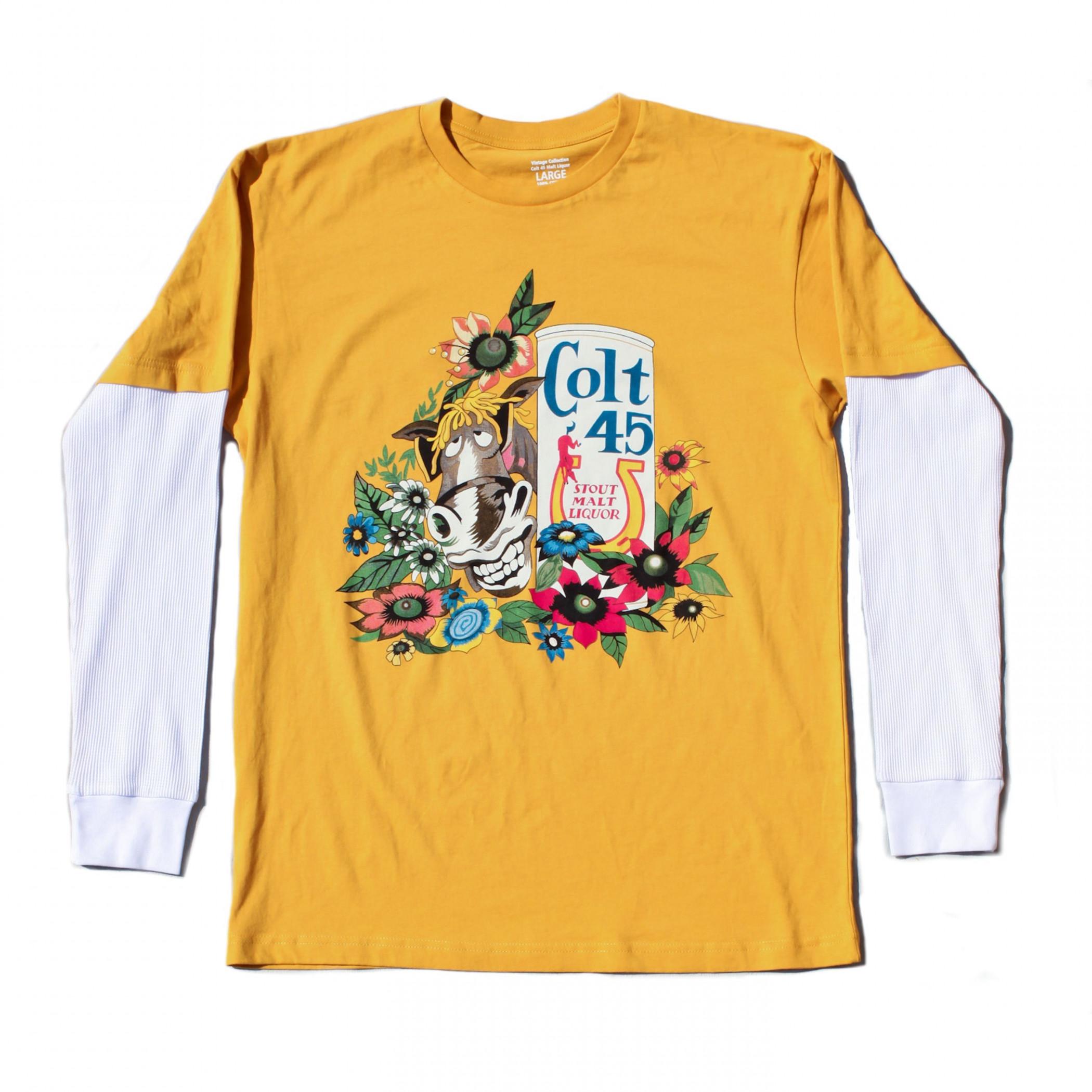 Colt 45 Donkey Logo Long Sleeve Shirt