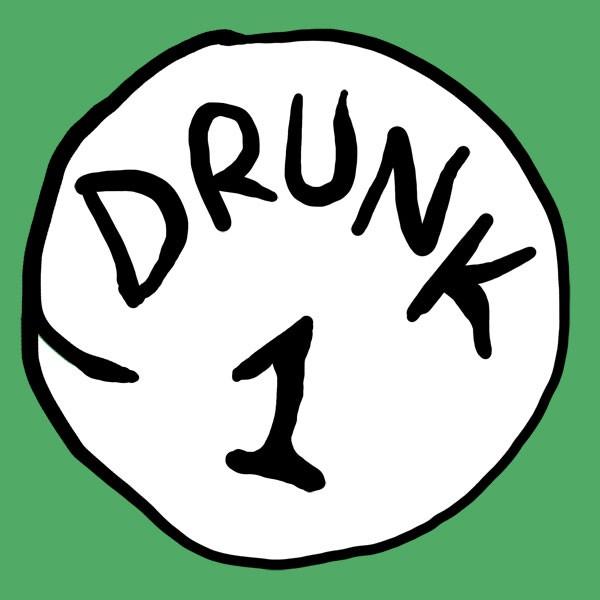 Drunk 1 Bottle Opener Green Graphic TShirt