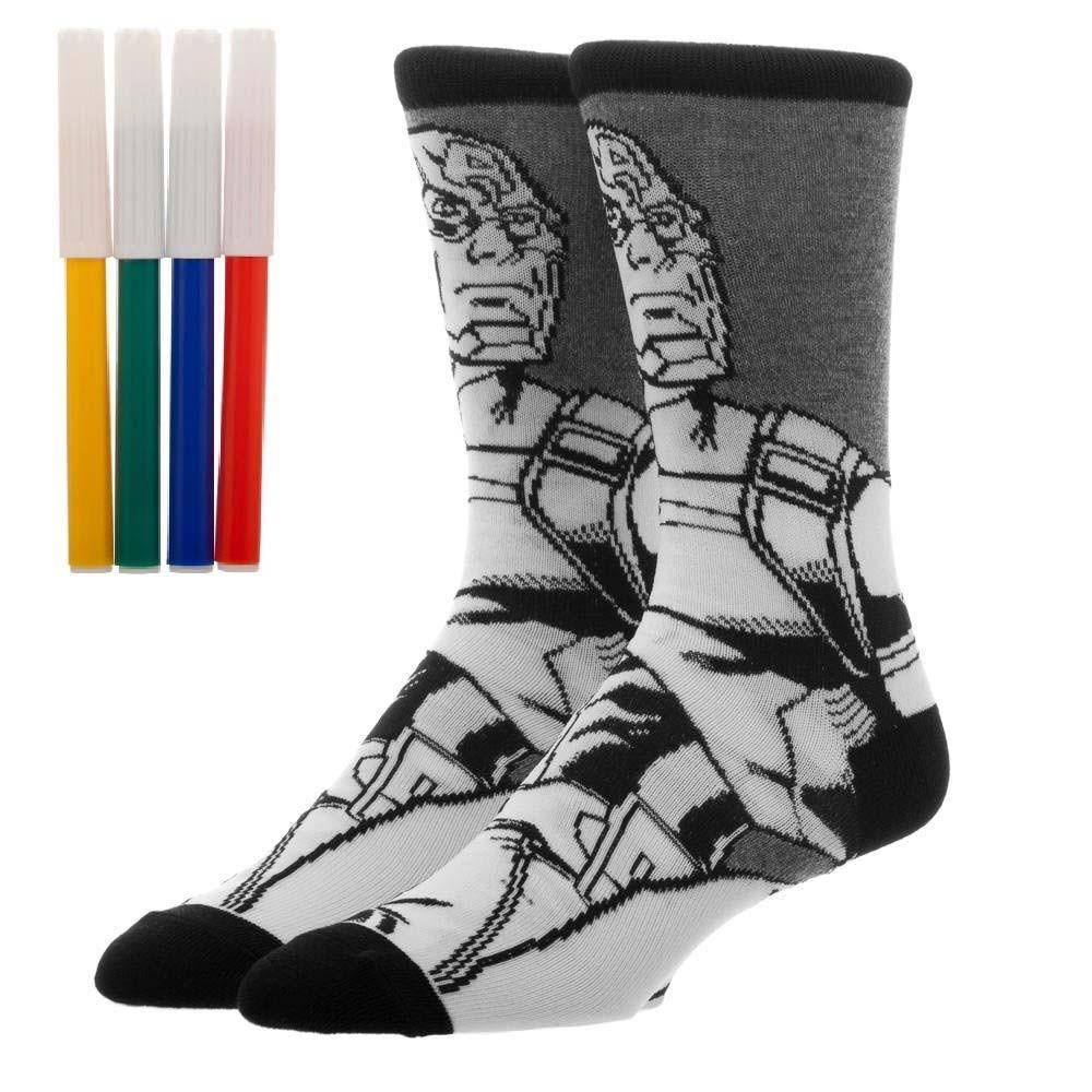 Captain America Color Yourself Socks