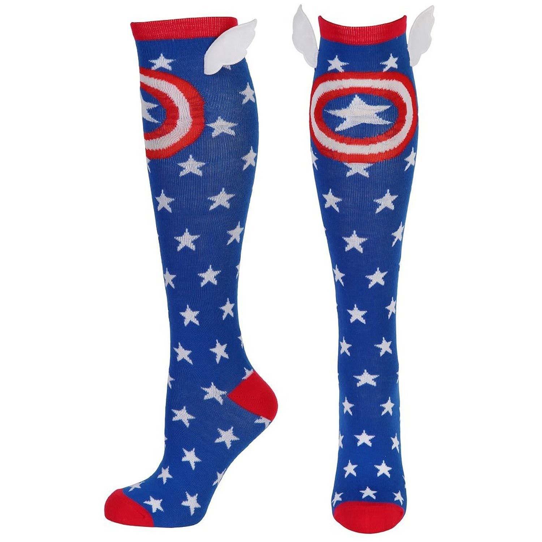 Captain America Women's Star Winged Socks
