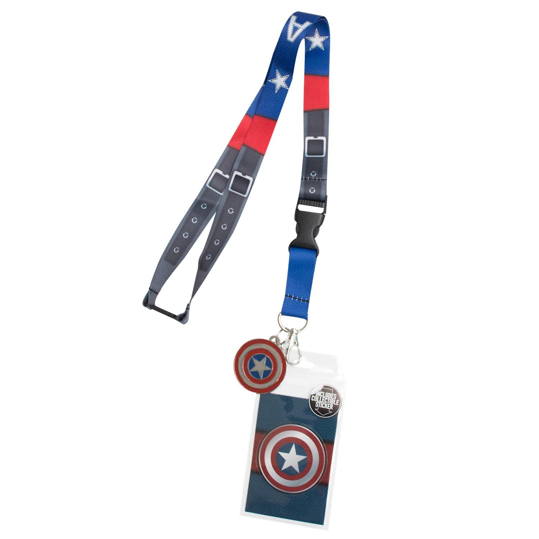 Captain America Blue Lanyard