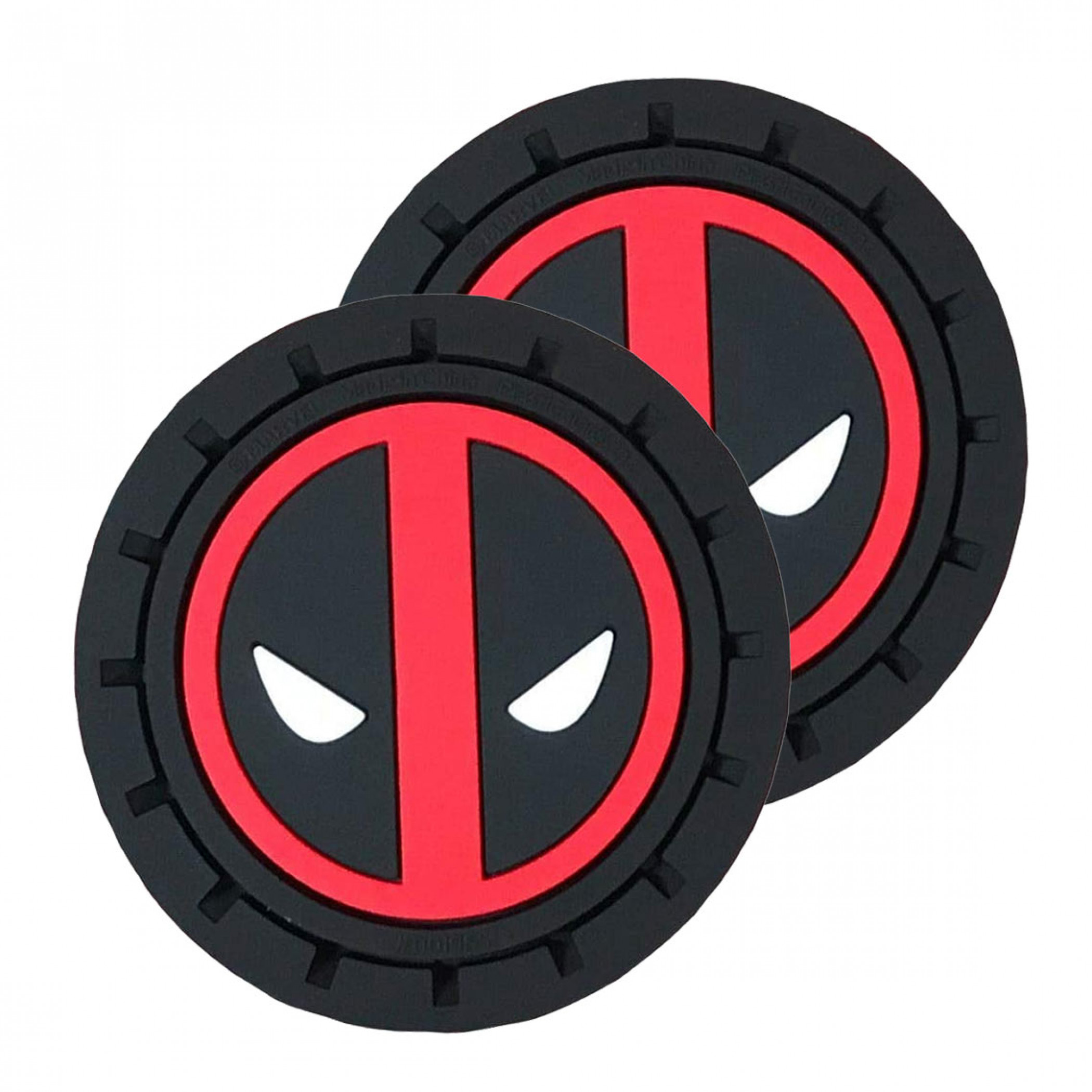 Deadpool Logo Car Cup Holder Coaster 2-Pack