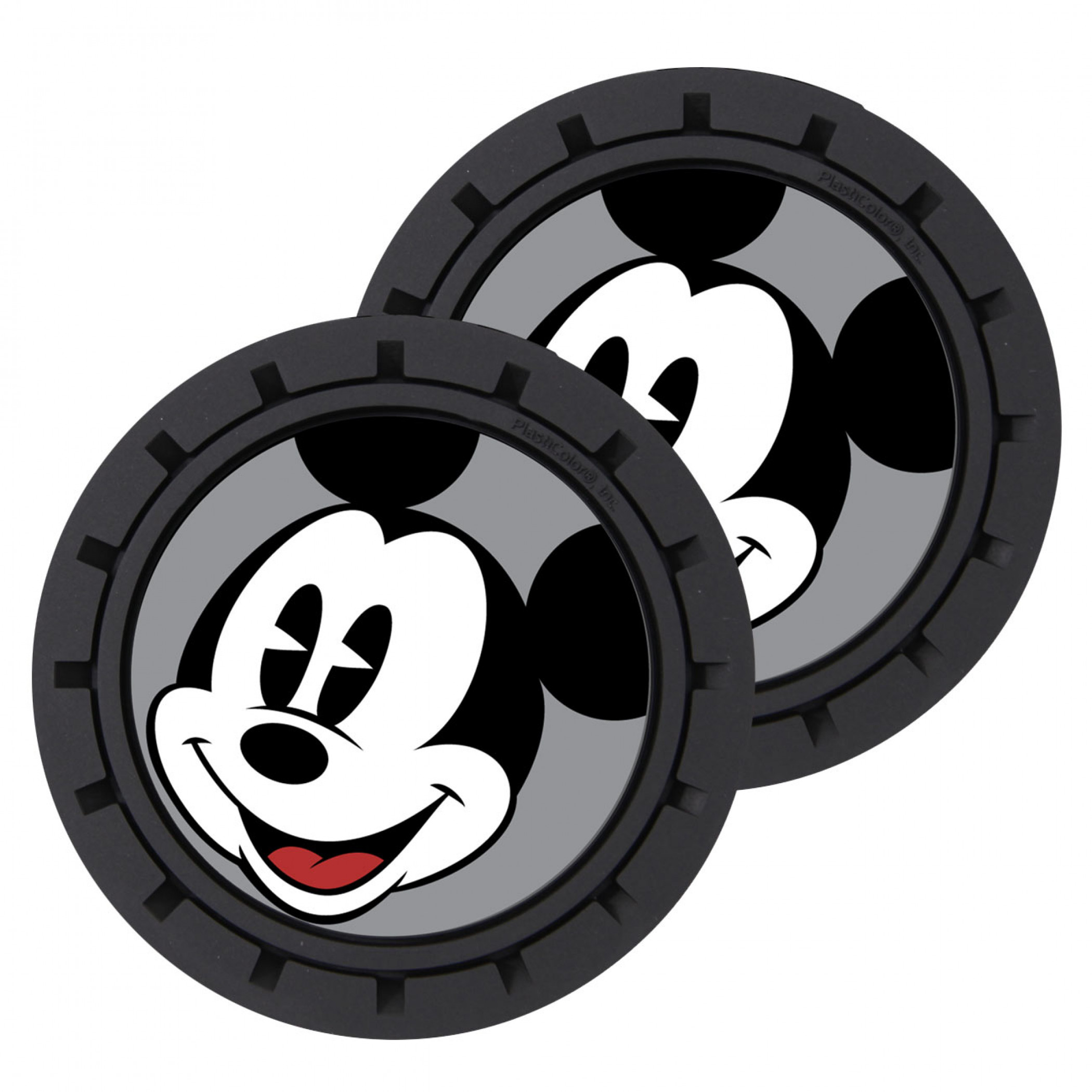 Disney Mickey Mouse Car Cup Holder Coaster 2-Pack