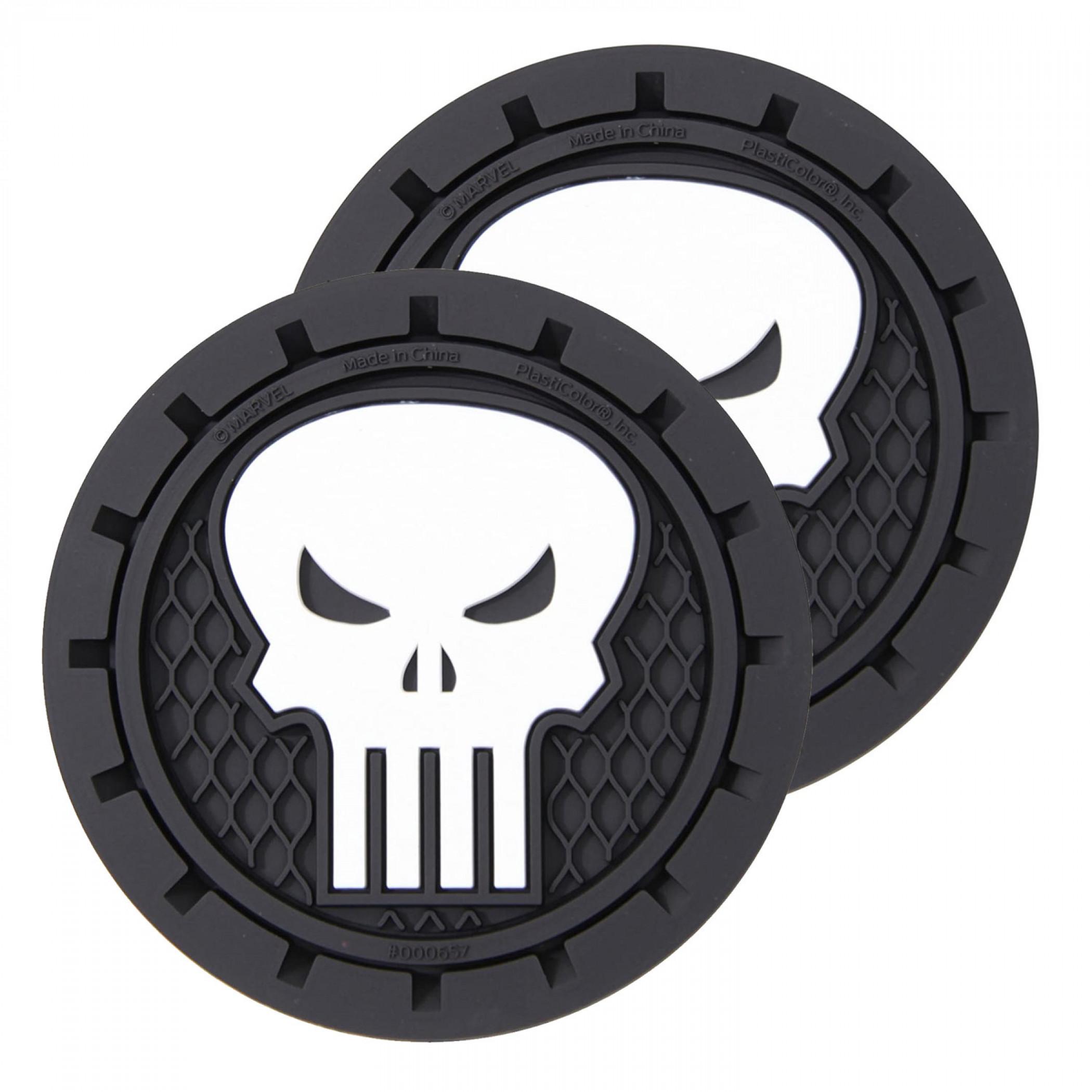 Punisher Car Cup Holder Coaster 2-Pack