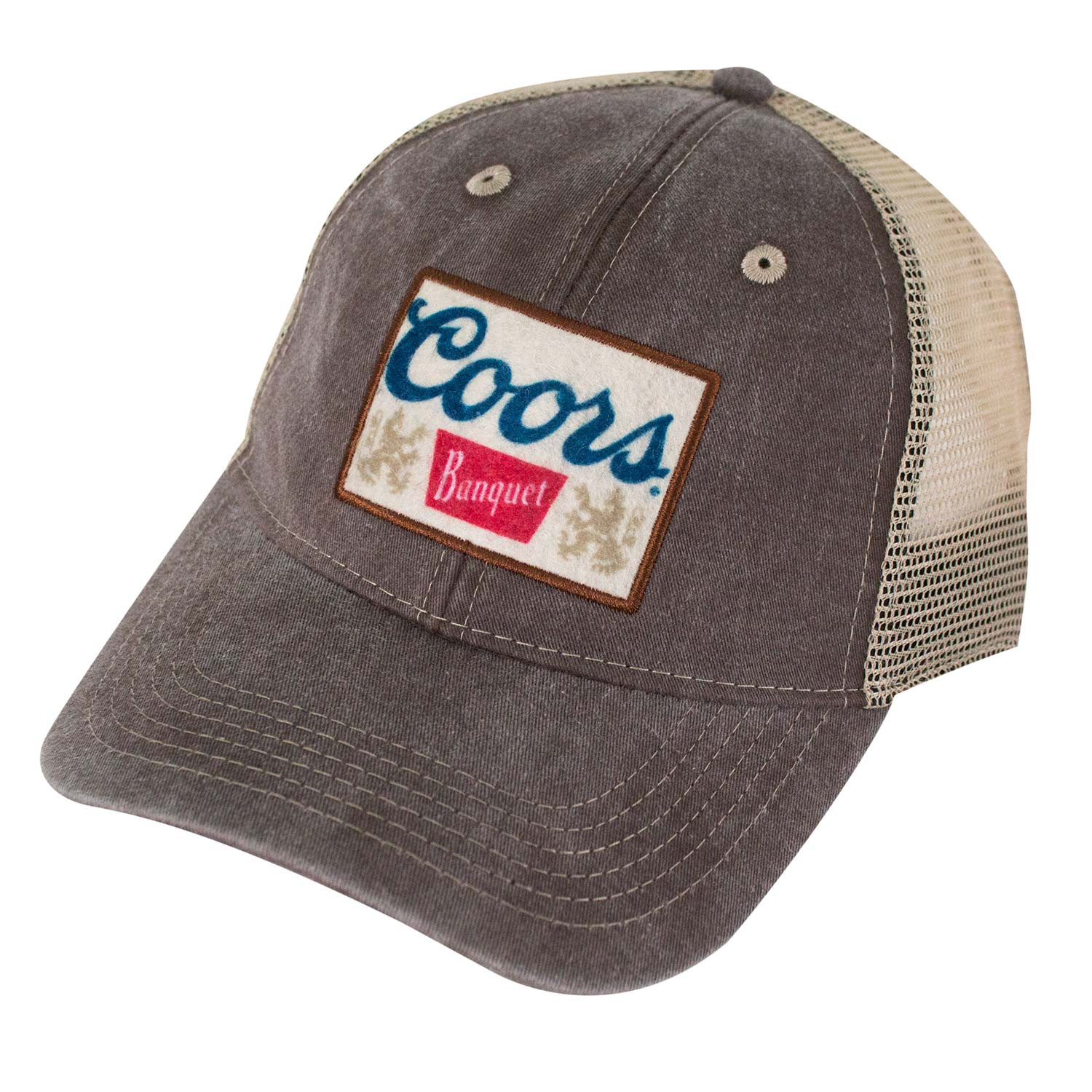 Coors Banquet Brown Patch Logo Mesh Snapback Hat