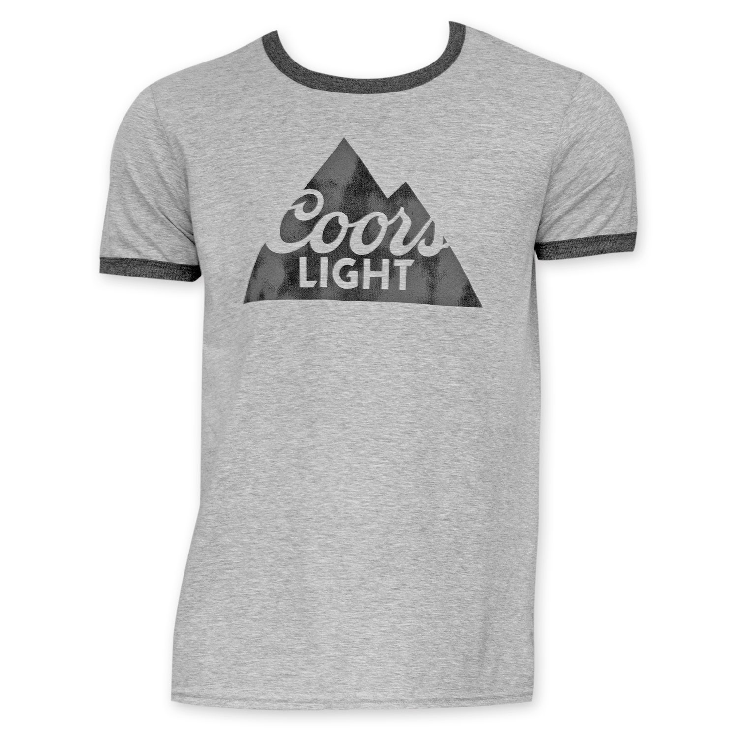 Coors Light Grey And Black Ringer Tee Shirt