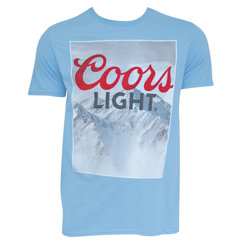 Coors Light Mountain Logo Light Blue Tee Shirt