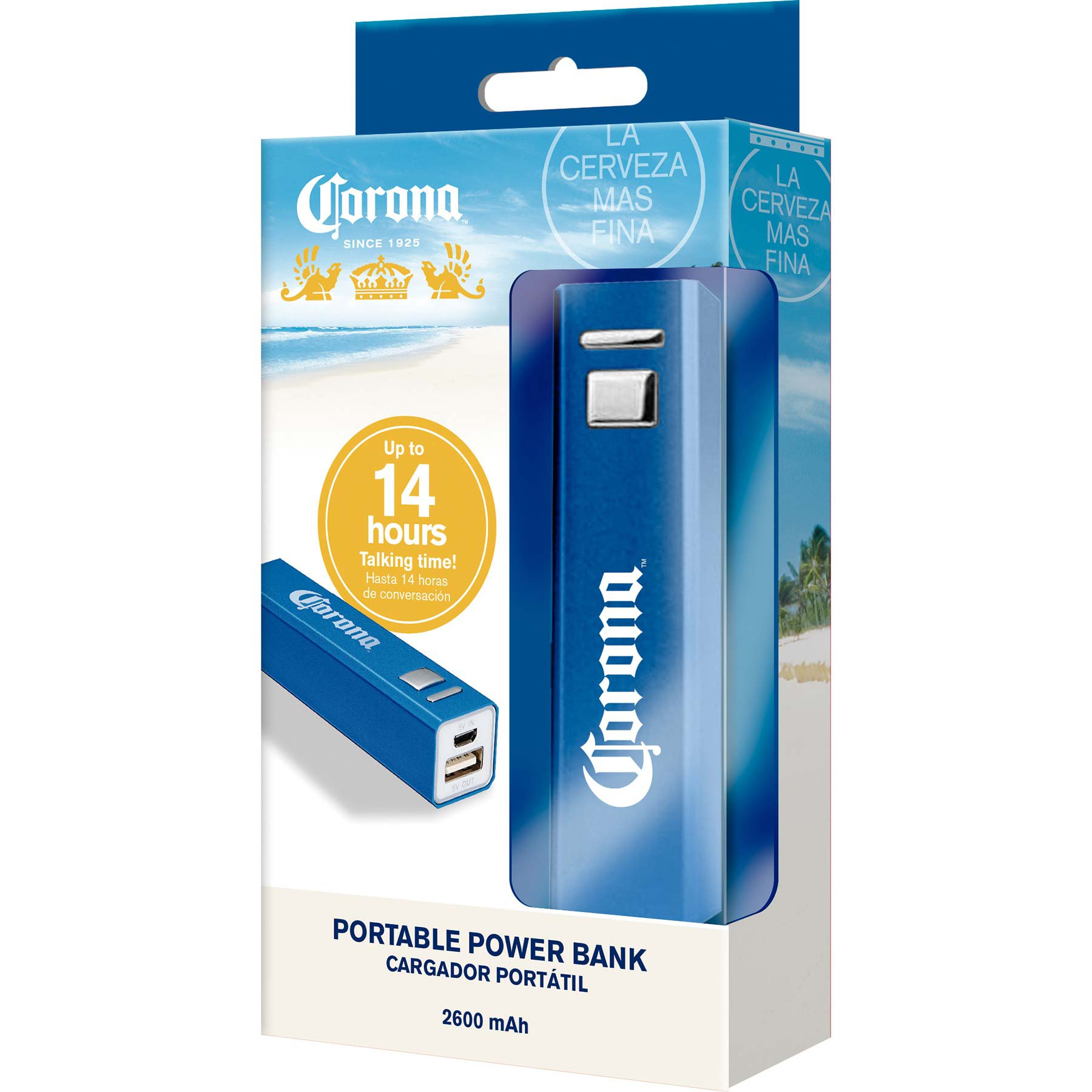 Corona Blue Portable Power Bank