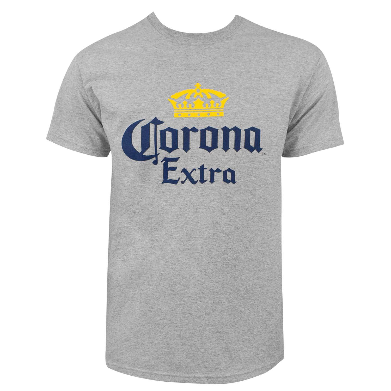 Corona Extra Logo Men's Gray T-Shirt