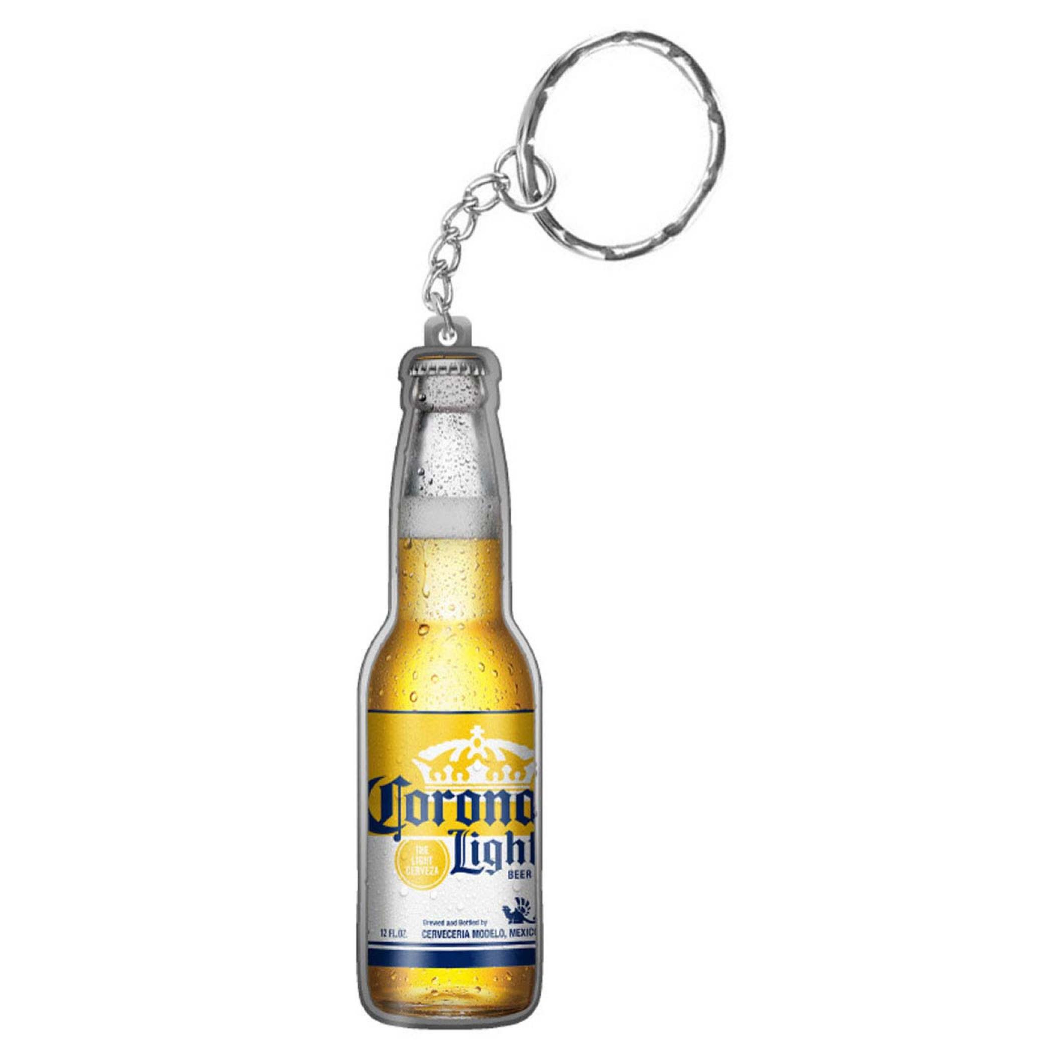Corona Light Bottle Shaped Keychain