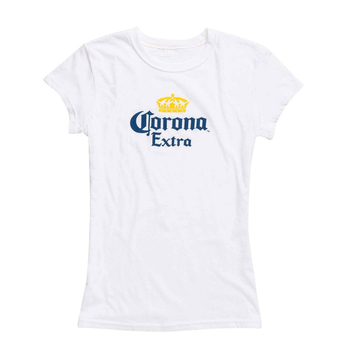 Corona Extra Ladies White Tee Shirt