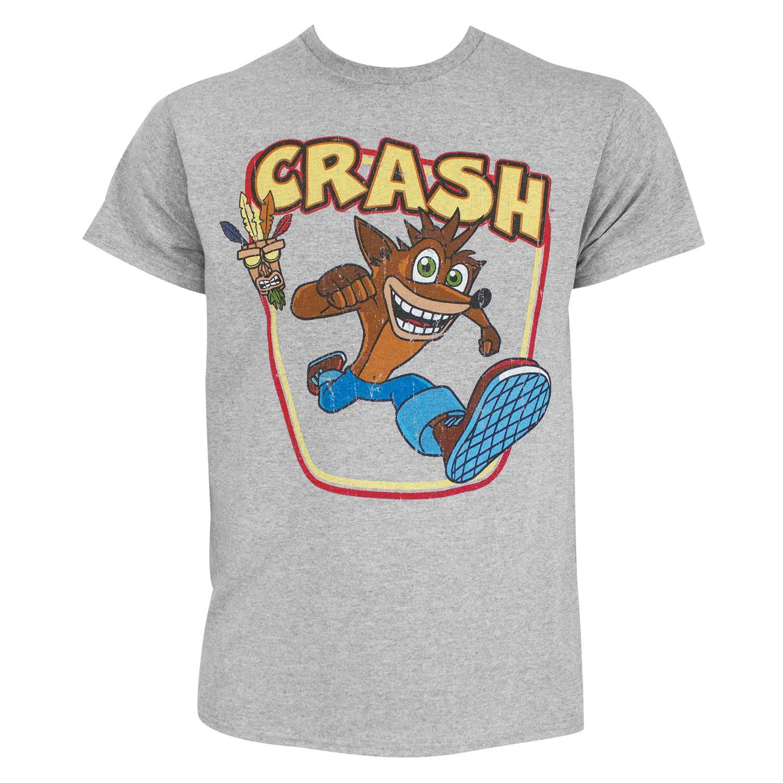 Crash Bandicoot Aku-Aku Grey Tee Shirt