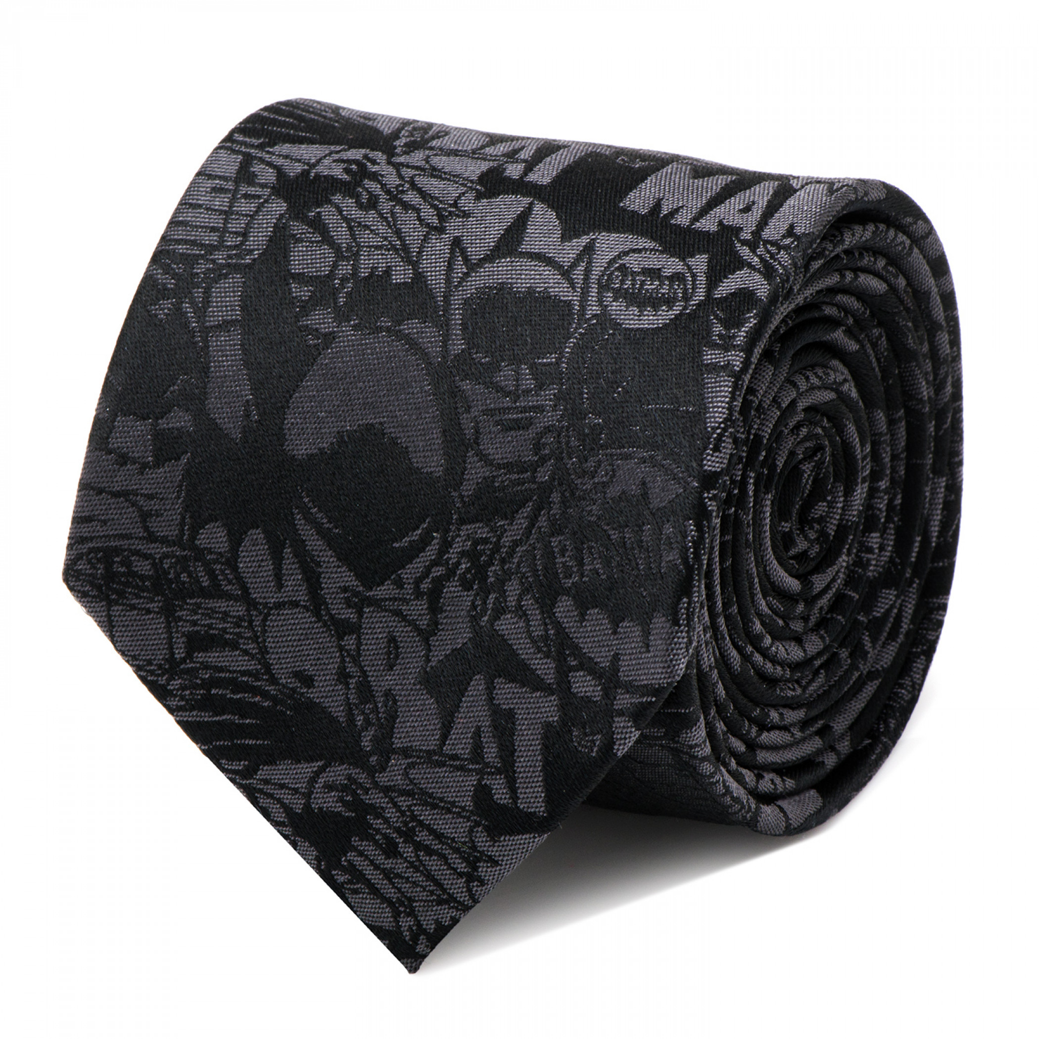Batman Comic Print Black Silk Tie