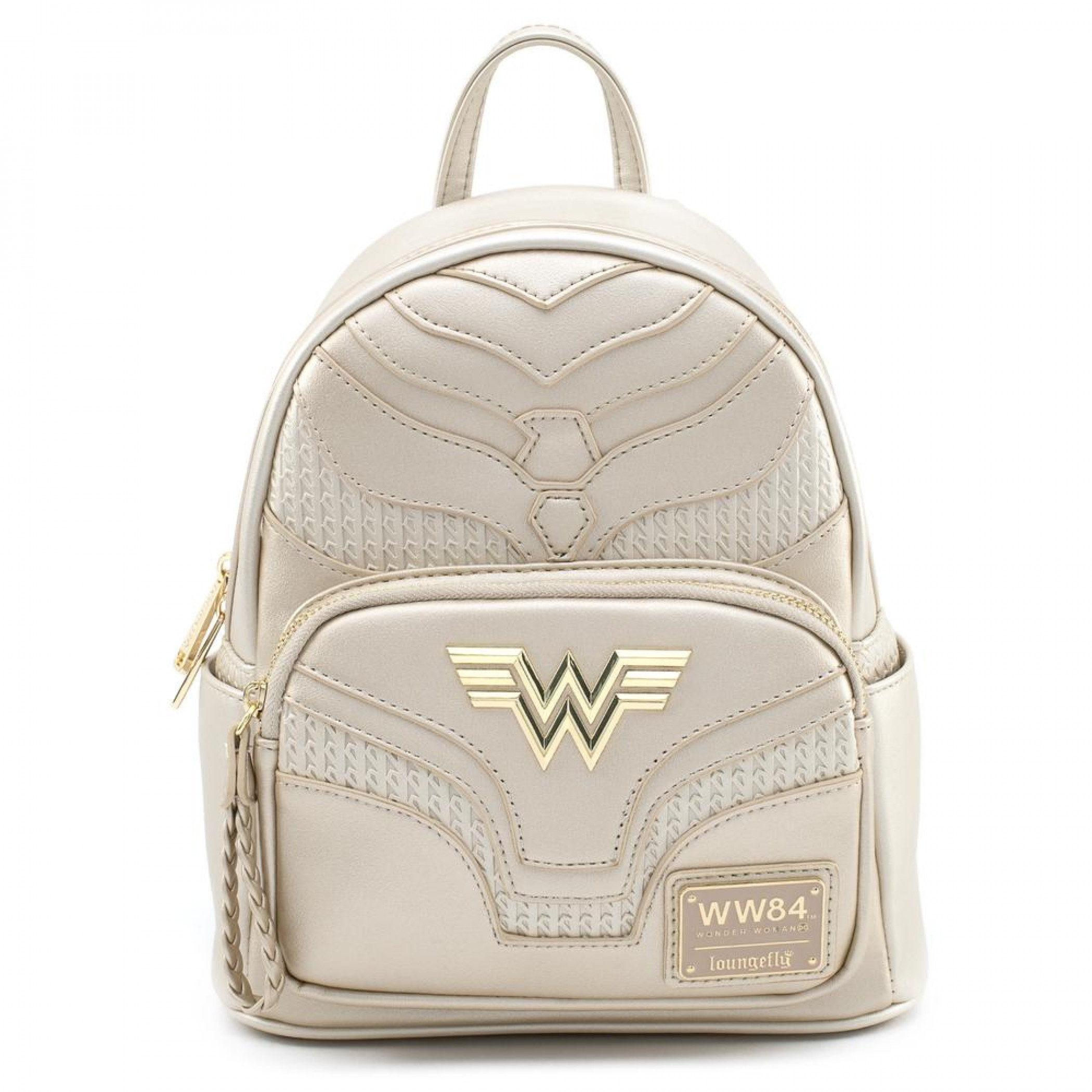 Wonder Woman 84 Gold Mini Backpack with Lasso Zipper Pull by Loungefly