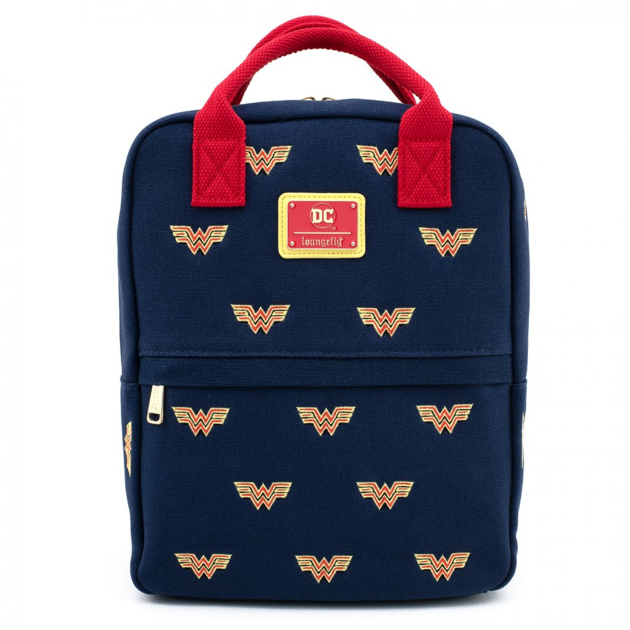 Wonder Woman Icon Blue Canvas Backpack by Loungefly