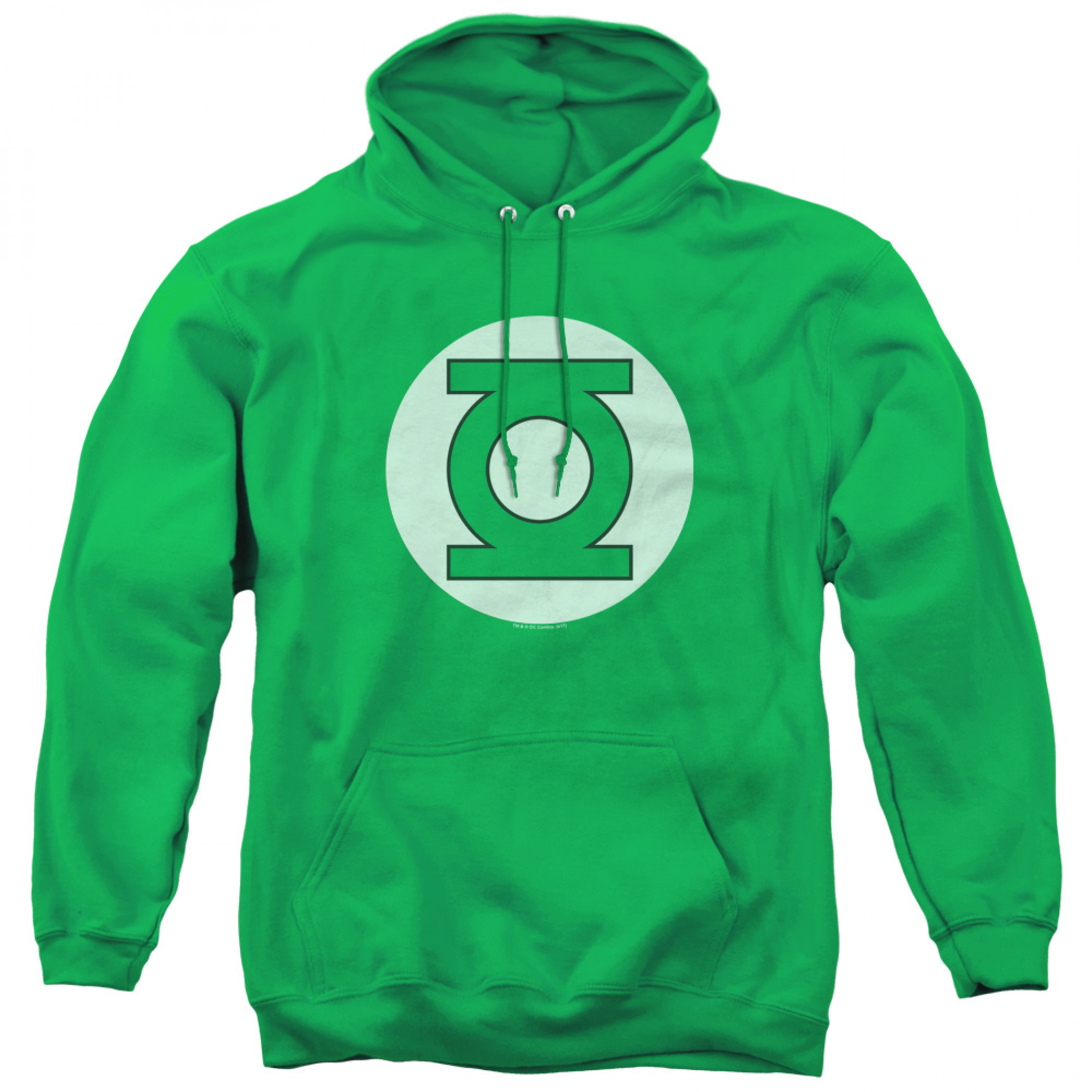 Green Lantern Logo Adult Pull Over Hoodie
