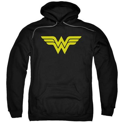 Wonder Woman Classic Logo Men's Black Hoodie