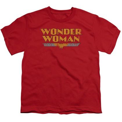 Wonder Woman Vintage Logo Youth Tshirt