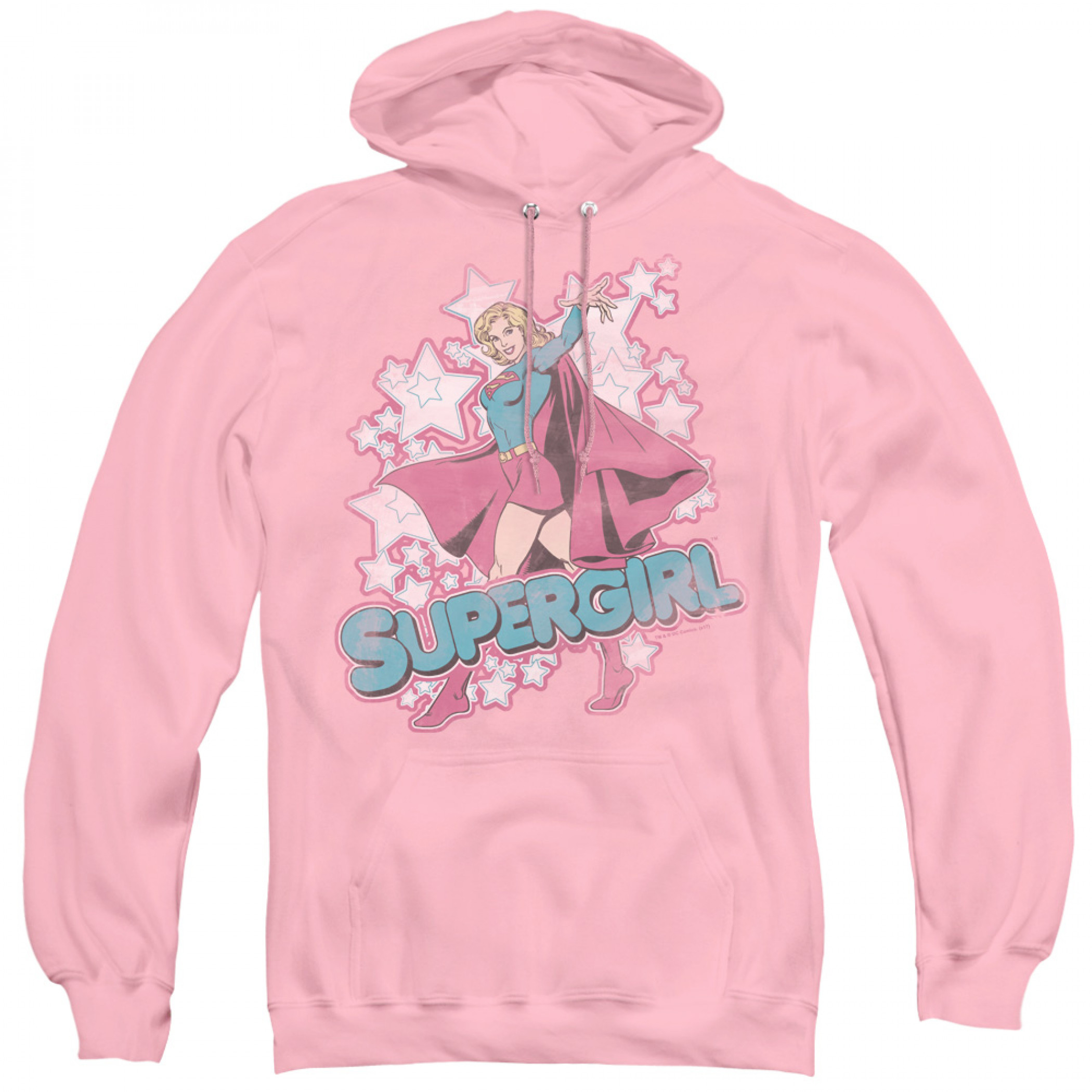 Supergirl Pose Women's Pink Hoodie