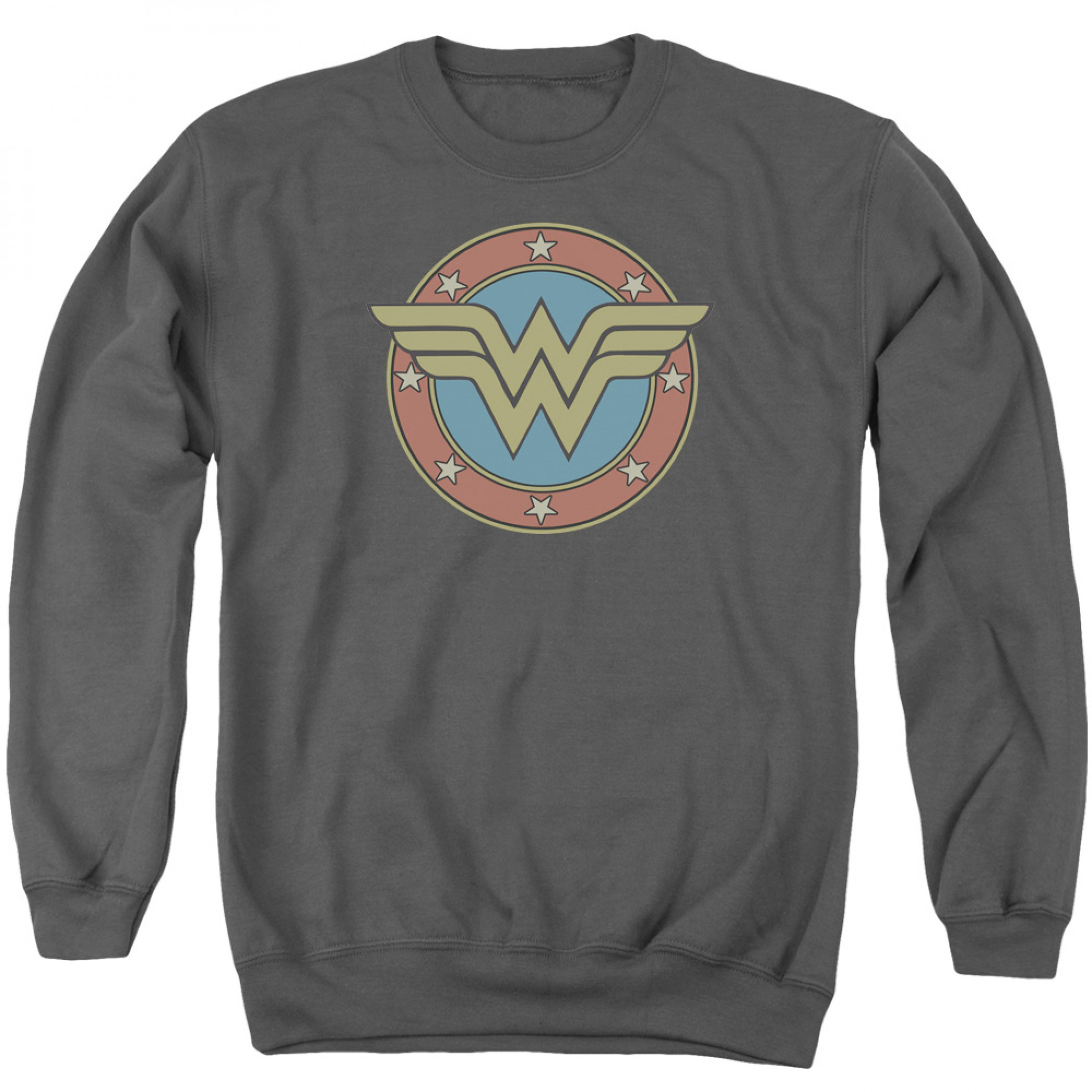 Wonder Woman Emblem Logo Crewneck Sweatshirt