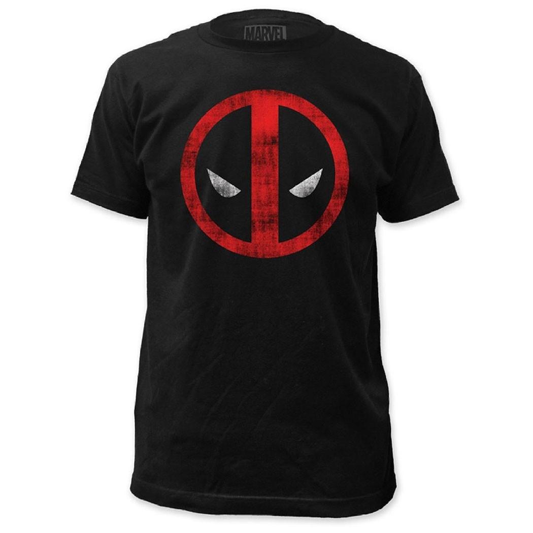 Deadpool Men's Black Logo Tee Shirt