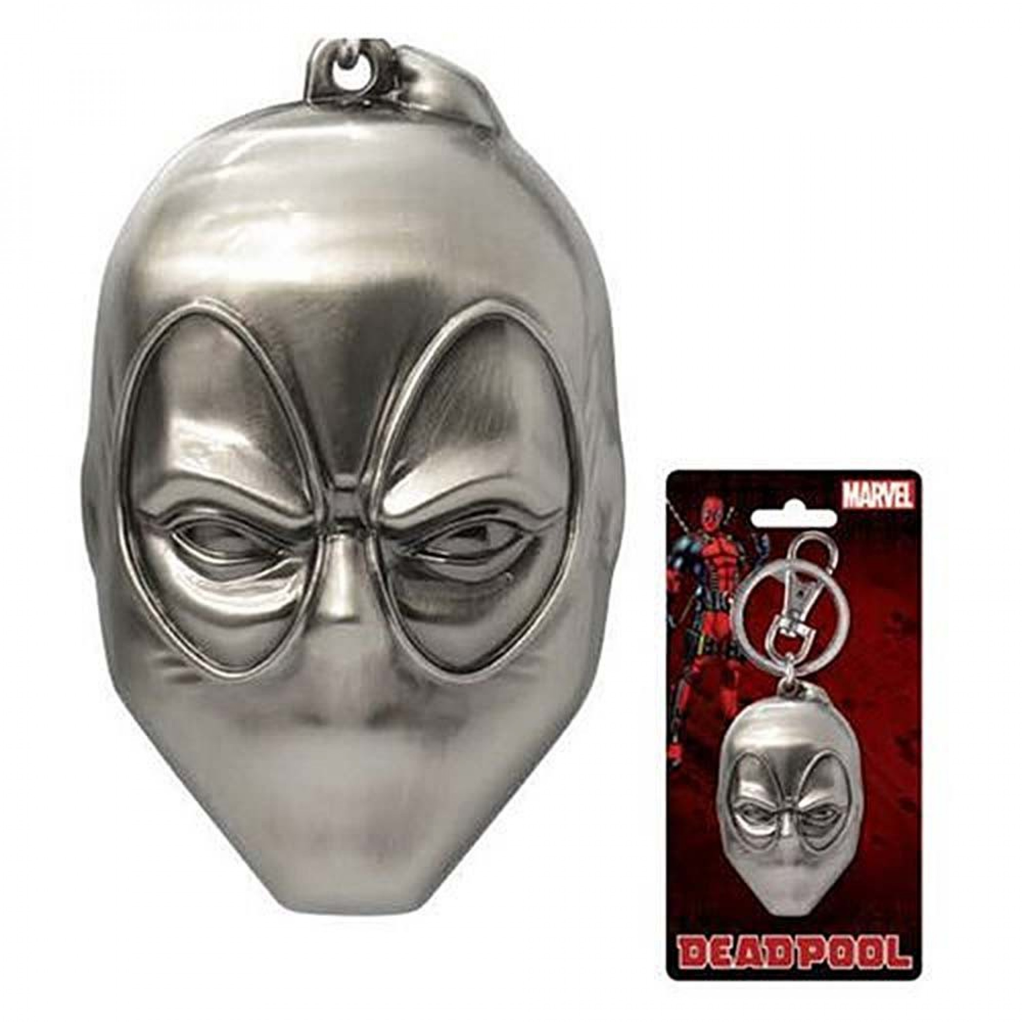 Deadpool Mask Pewter Keychain