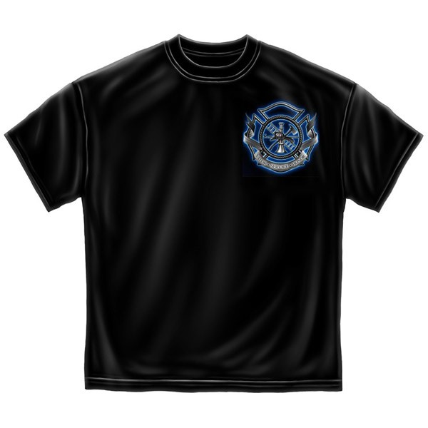 Firefighter's Prayer USA Patriotic Black Graphic Tee Shirt