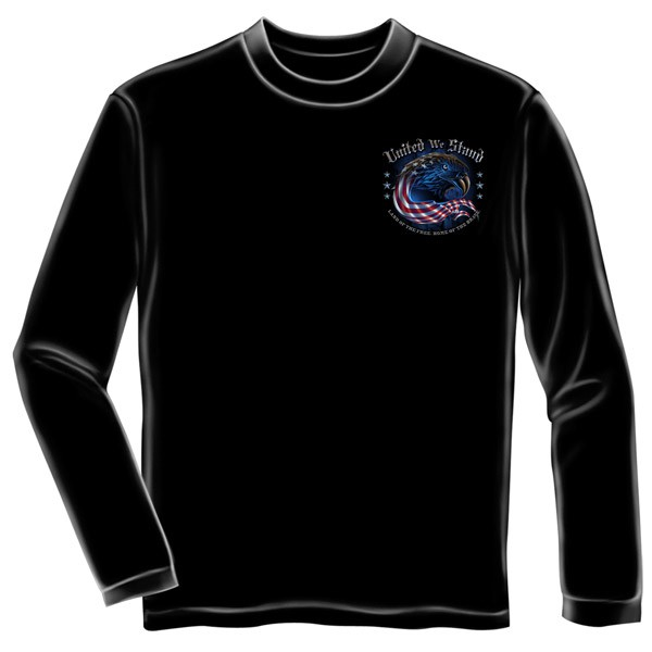 United We Stand 9/11 USA Black Long Sleeve T-Shirt