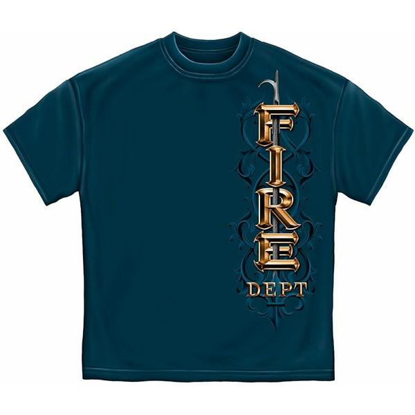 Blue Men's Fire Dept. Tribute Brotherhood Shirt