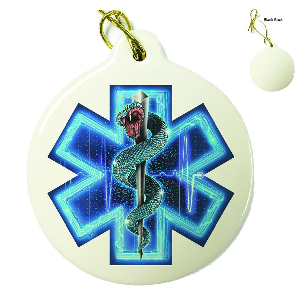 Silver Snake EMT Full Porcelain Ornament