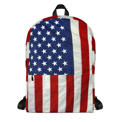 USA American Flag All Over Print Back Pack