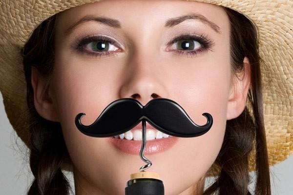The Handlebar Mustache Corkscrew Bottle Opener