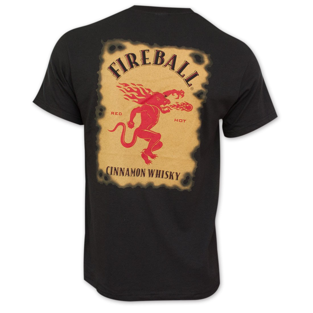 Fireball Cinnamon Whisky Bottle Label T-Shirt