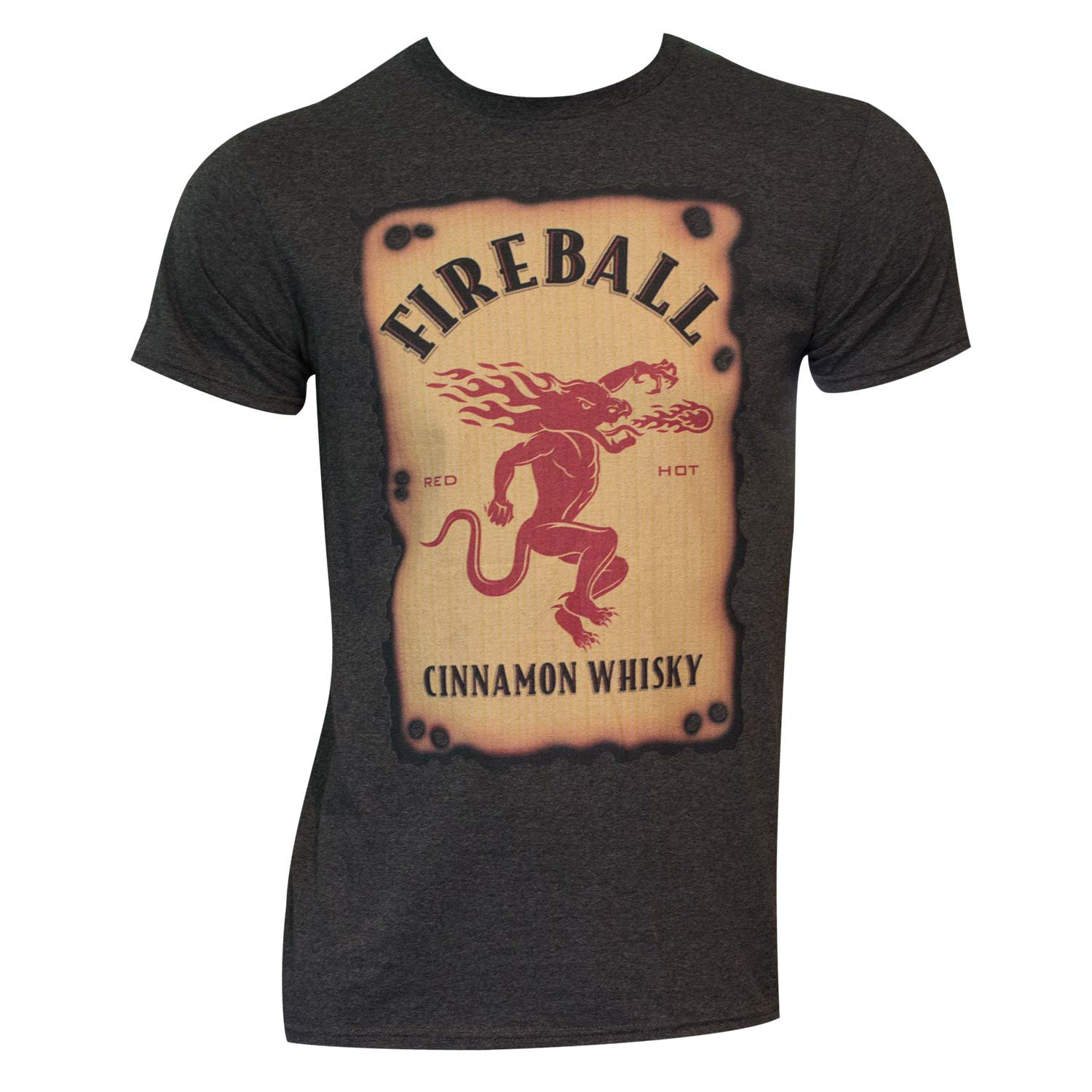 Men's Fireball Label Black T-Shirt