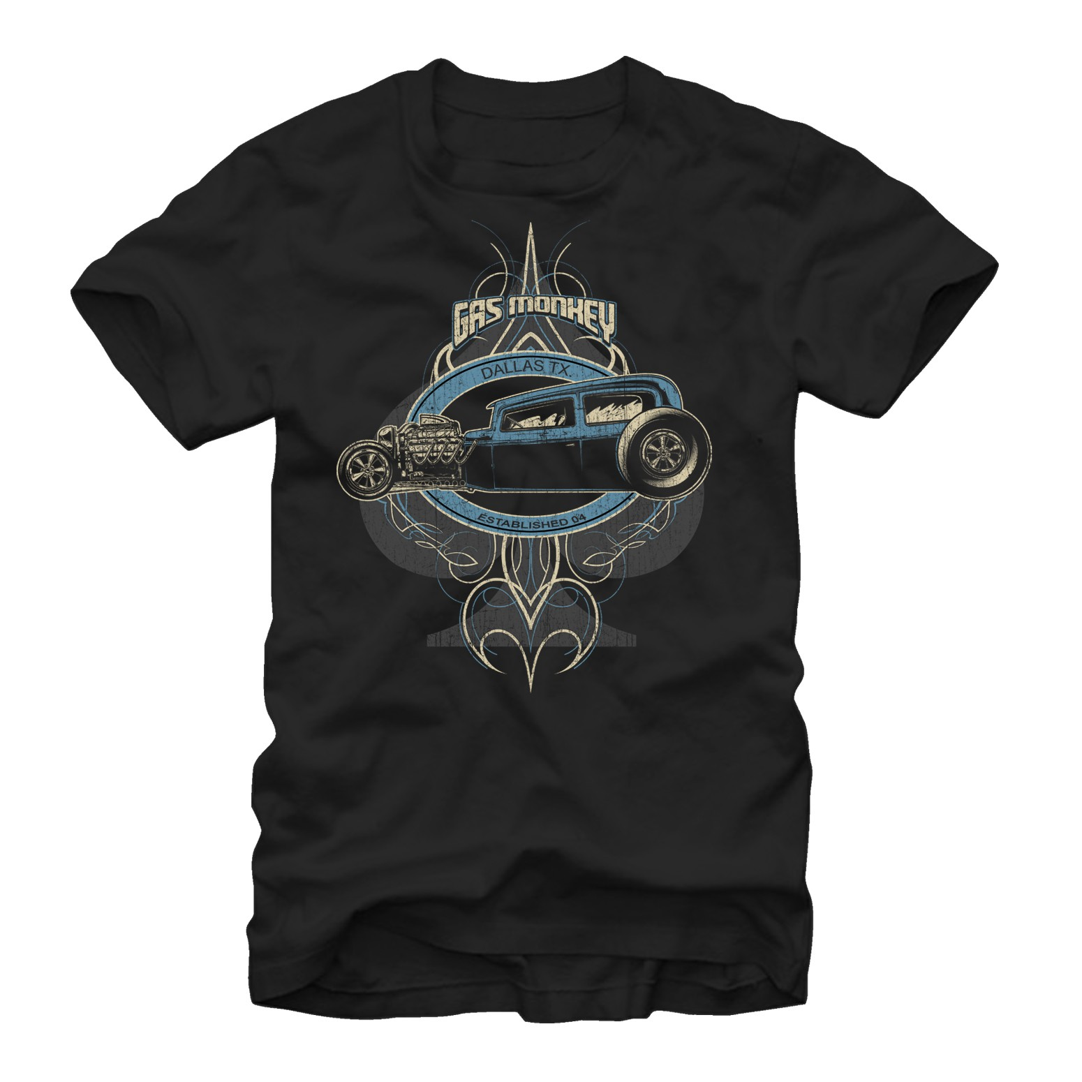Gas Monkey Garage Kustom Rod Black T-Shirt