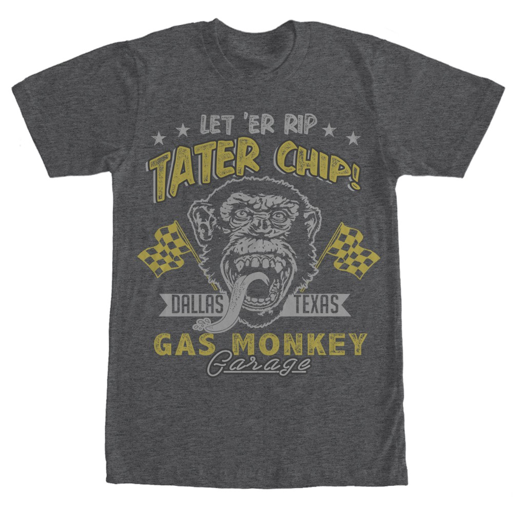 Gas Monkey Garage Tater Chips Gray T-Shirt