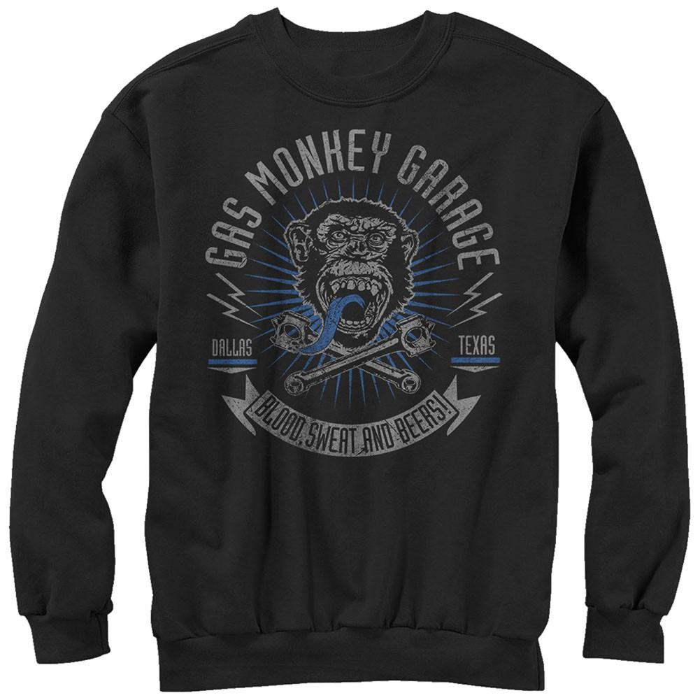 Gas Monkey Garage Reset Garage Black Pullover Sweatshirt