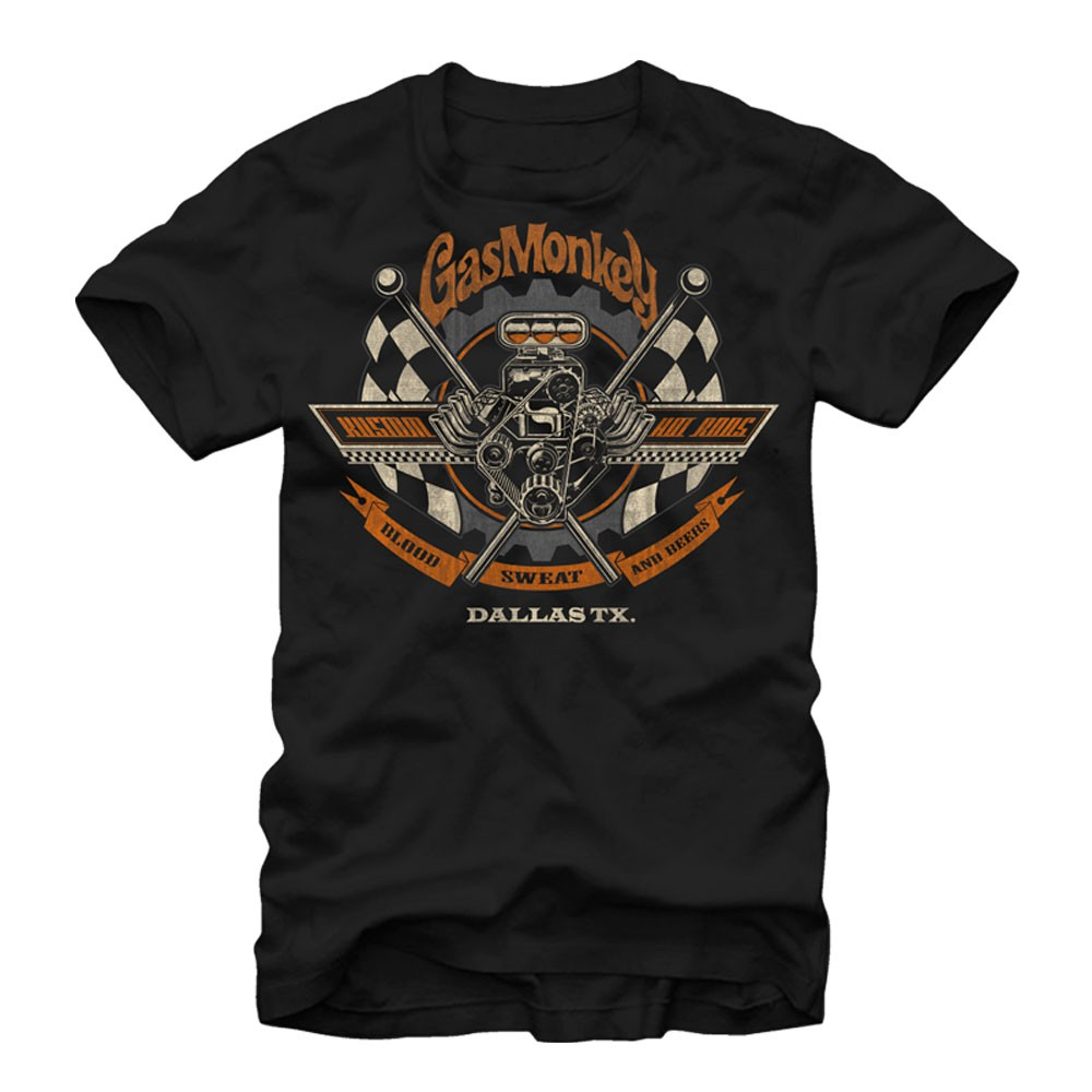 Gas Monkey Garage Texas Made Black T-Shirt
