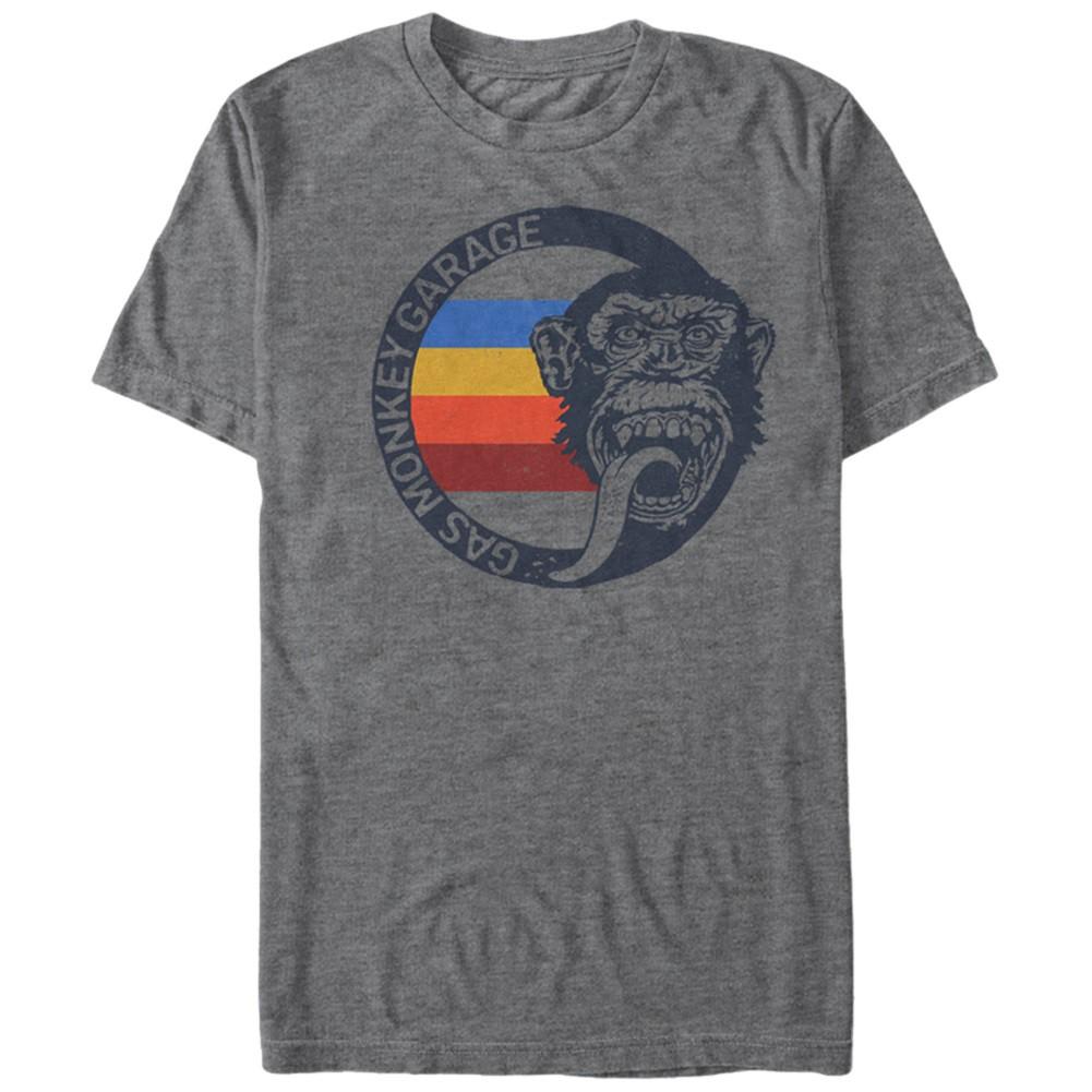 Gas Monkey Garage Vintage Stripes Gray T-Shirt