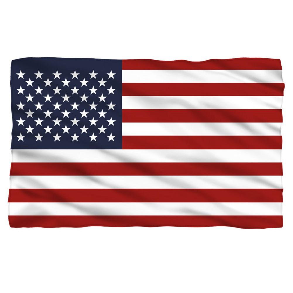 American Flag Patriotic Fleece Throw Blanket