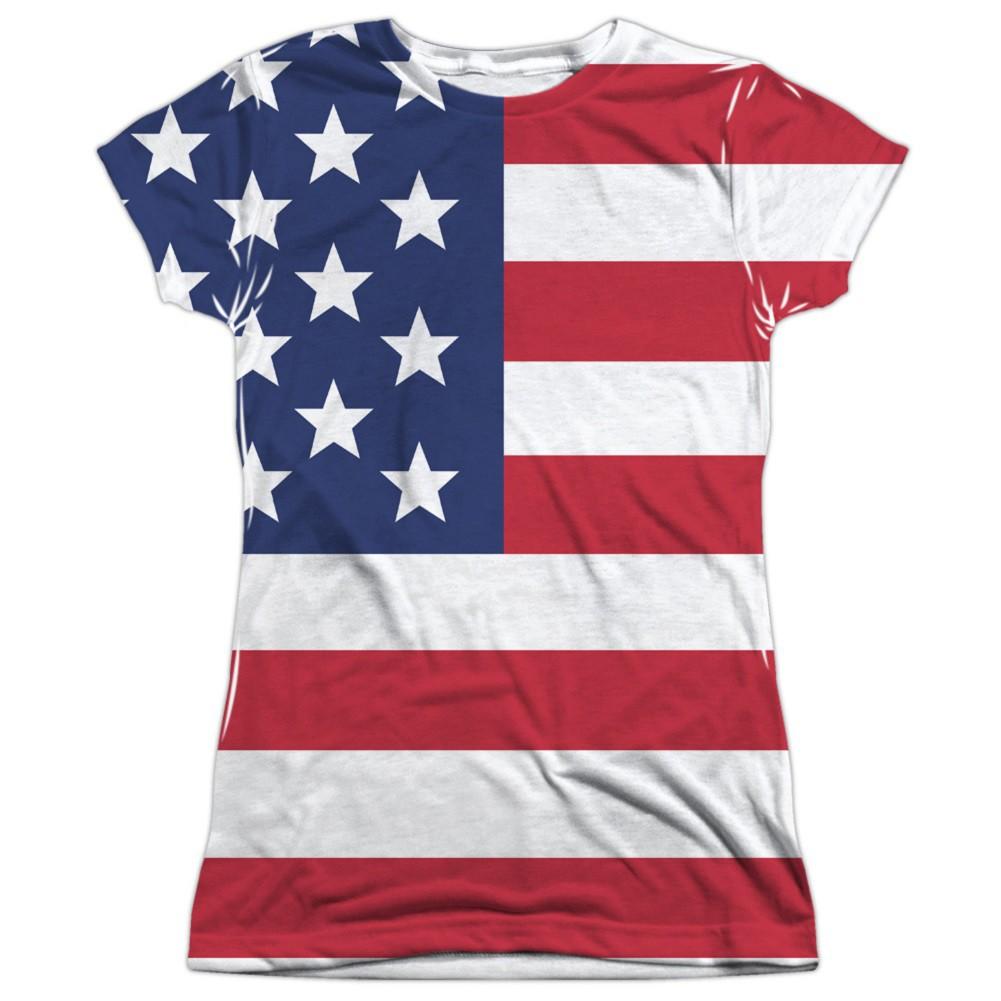 American Flag Patriotic Women's Tshirt