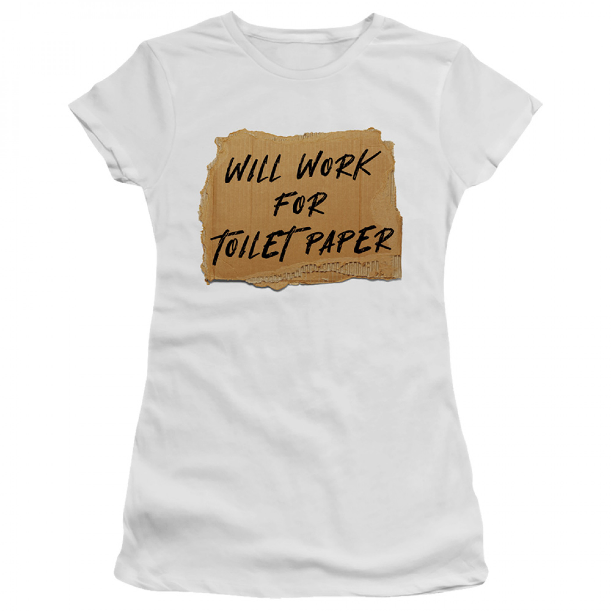 Will Work for Toilet Paper Social Distancing Women's T-Shirt