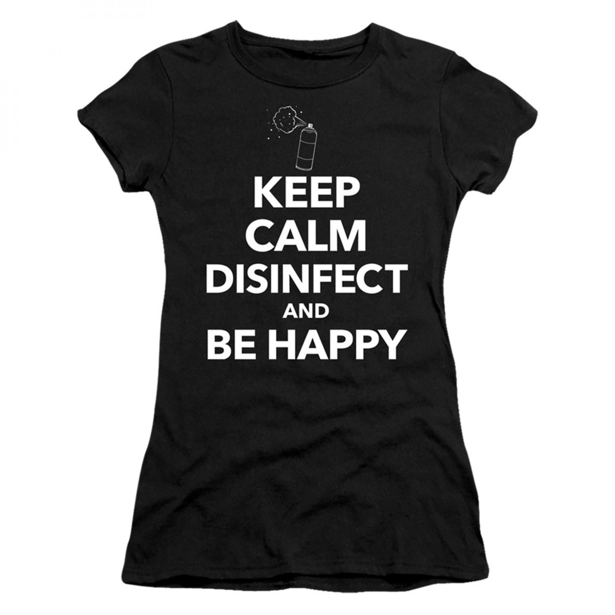 Keep Calm and Disinfect Social Distancing Women's T-Shirt
